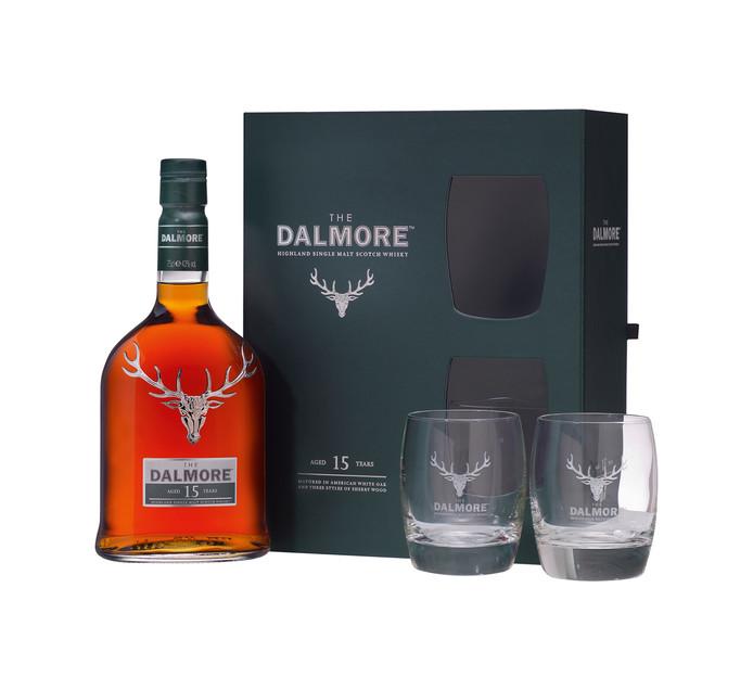 DALMORE 15YO DOUBLE GLASS G/PK 750ML
