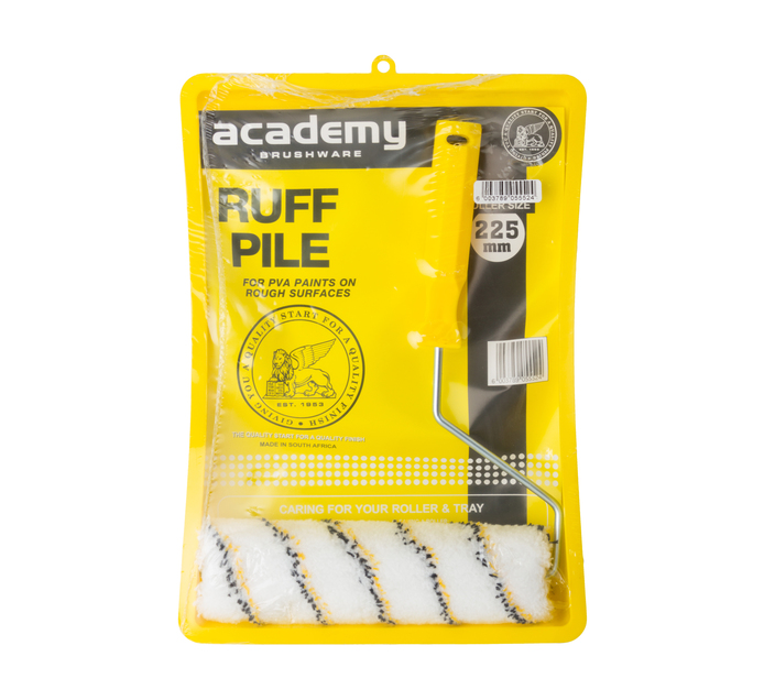 ACADEMY 225 mm Ruffpile Roller Tray Set