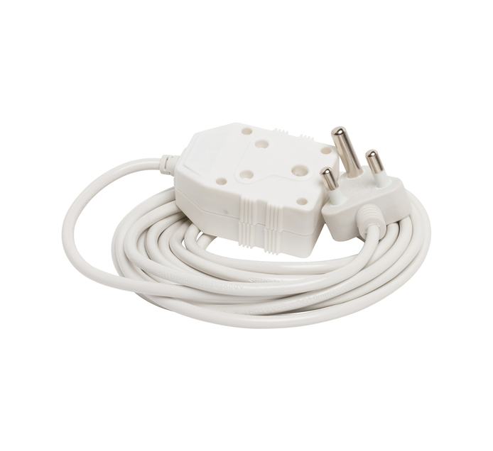 SUEDE 5m 1mm EXTENSION CORD WHITE