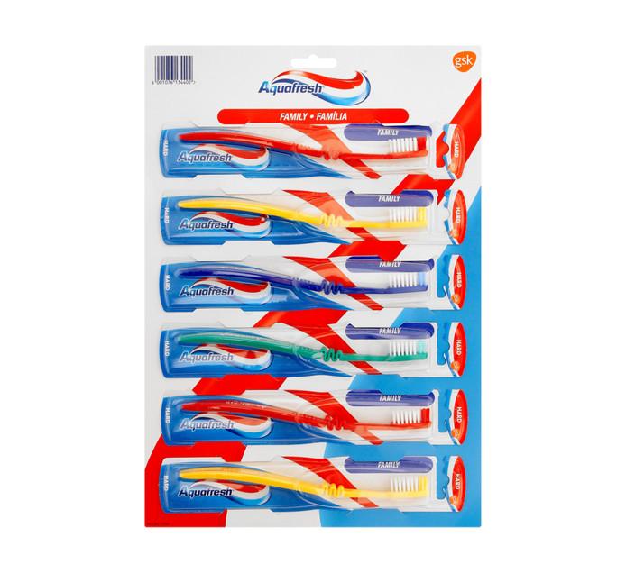 AQUAFRESH T/Brush Fam Carded (1 x 6's)
