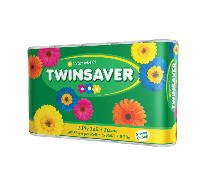 TWINSAVER 1 Ply Toilet Paper (All variants) (15's)