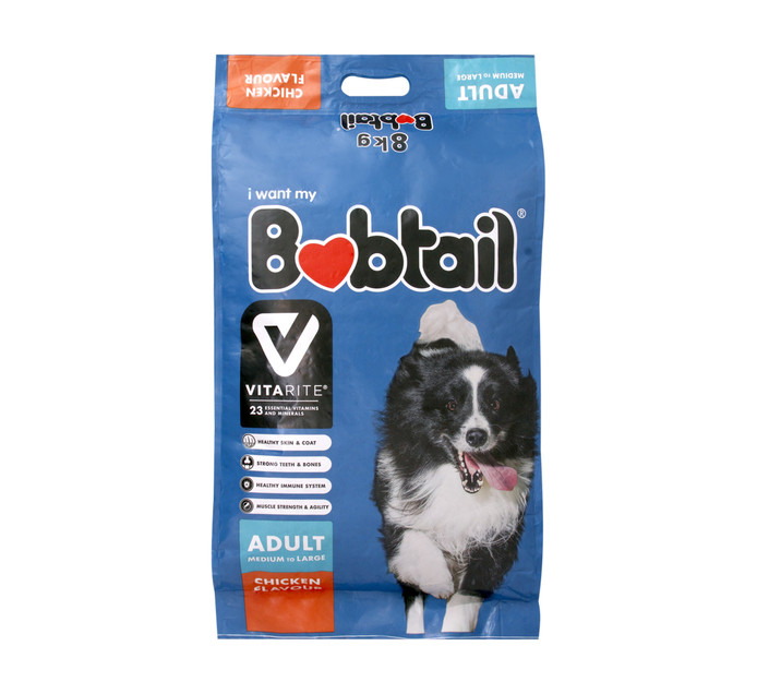 BOBTAIL Dry Dog Food Large Chicken (1 x 8kg)