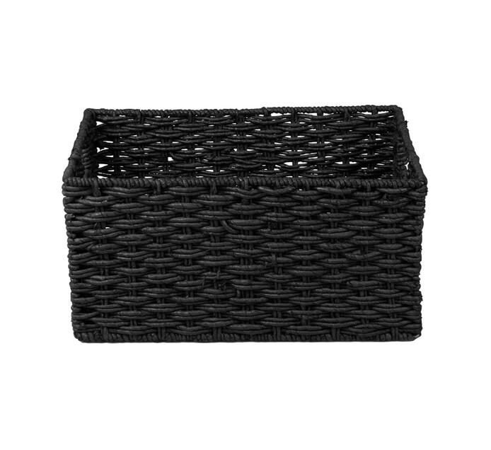 CORN WEAVE BASKET BLACK XL