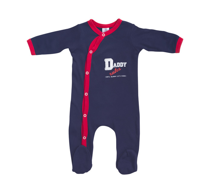 LEGEND NB:18 months Boys Daddy Rules Sleepsuit Navy