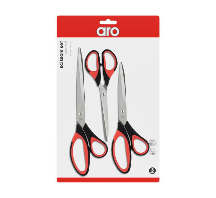 ARO Scissors Assorted 3 Pack