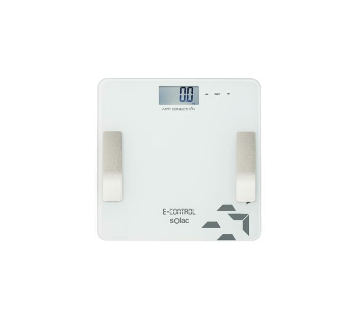 "Bathroom Scale Auto Off Switch LED Display Glass White ""E Control"""