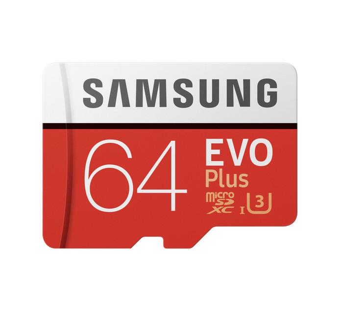 SAMSUNG 64GB EVO PLUS MICRO SD CARD