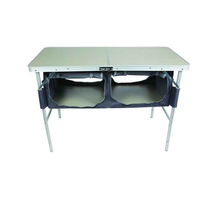 CAMPMASTER Folding Table with 2 Cupboards
