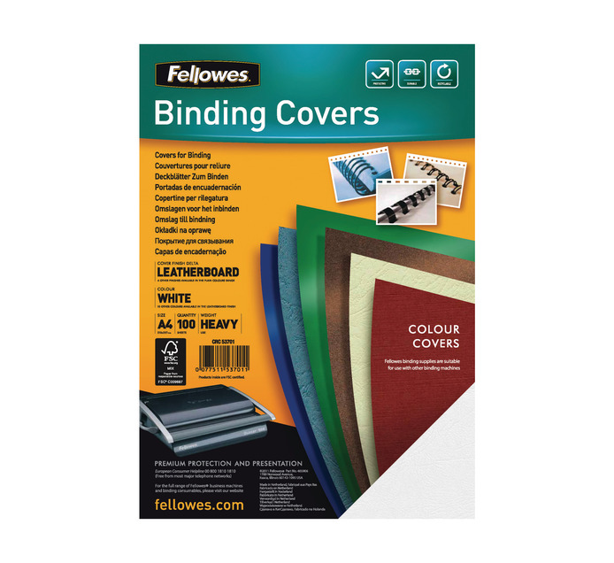 FELLOWES A4 100 Pack Leather Board