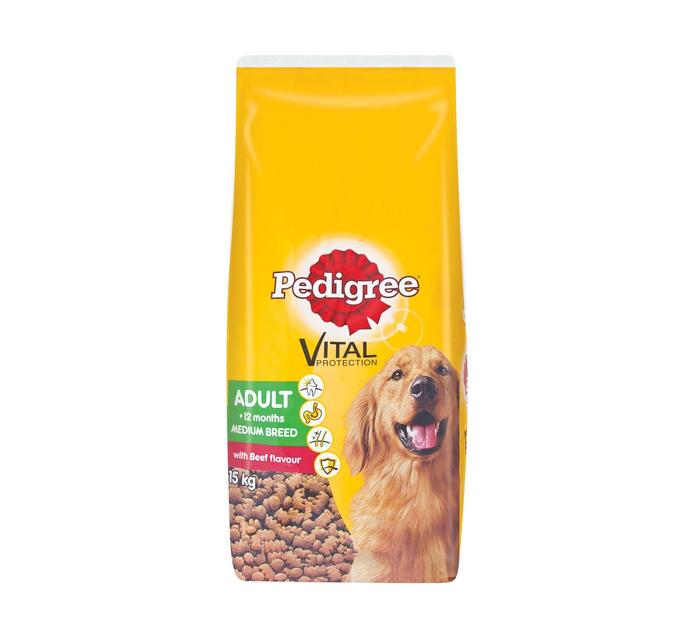 PEDIGREE Dry Dog Food Beef (1 x 15kg)
