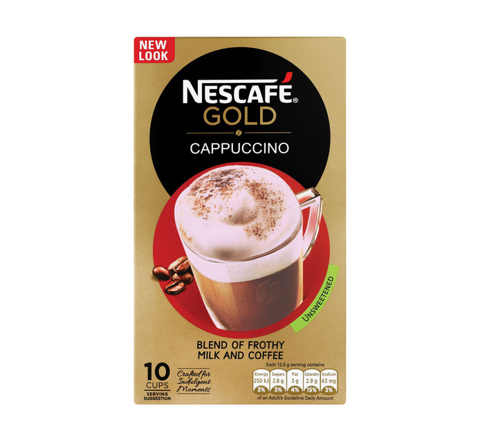 NESCAFE Cappuccino Unsweetened (10 x 12.5g)