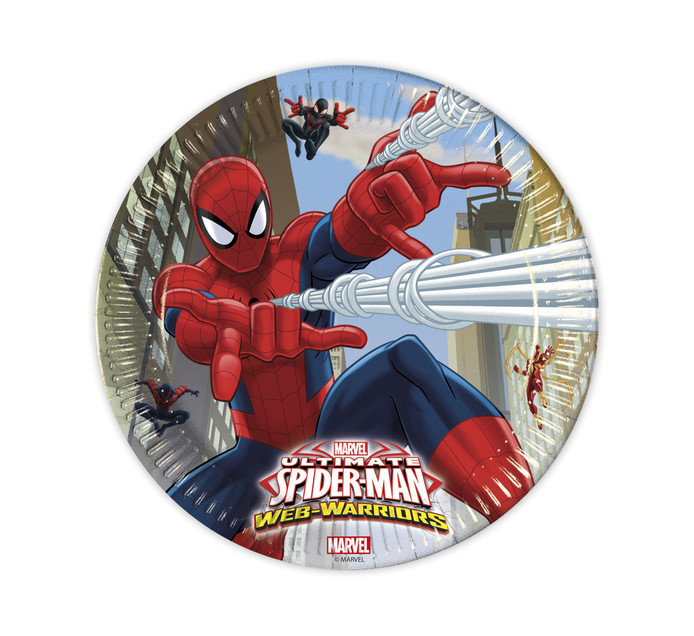 SPIDERMAN Large 8PK Paper Plates