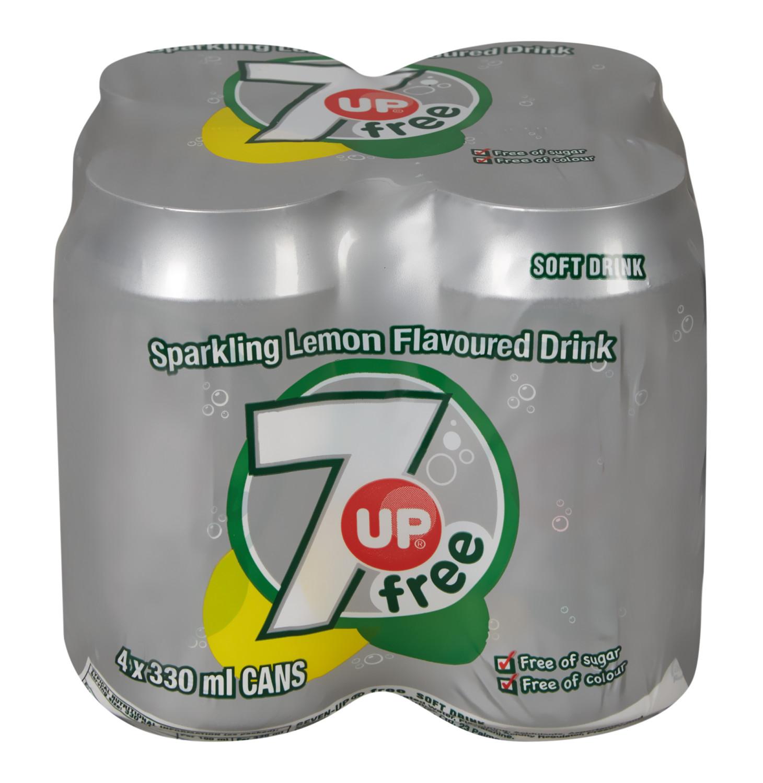 7 Up Soft Drink Cans Sugar Free (24 x 300ML)