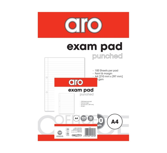ARO A4 Exam Pad 10-Pack