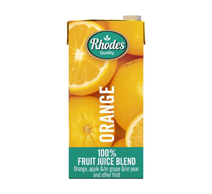 RHODES 100% Fruit Juice Blend Orange (1 x 1lt)