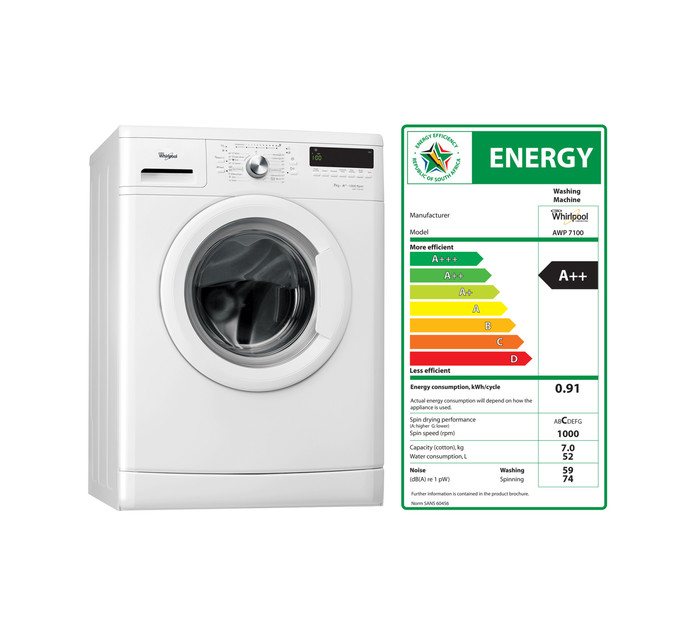 WHIRLPOOL 7 kg Front Loader Washer