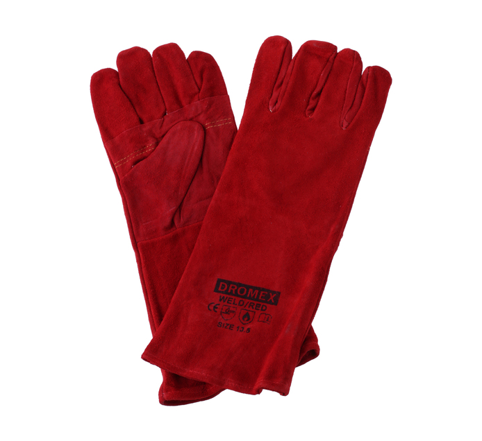 CHEF & CO Oven Mitts leather Red
