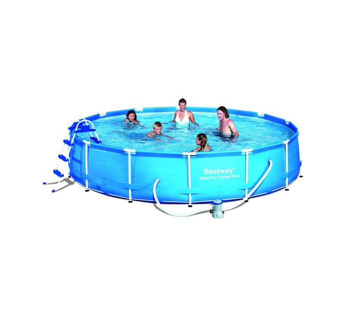 BESTWAY 457cm x 91cm Steel Frame Pool Set