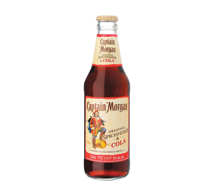 CAPTAIN MORGAN Spiced Gold and Cola (24 x 330ml)