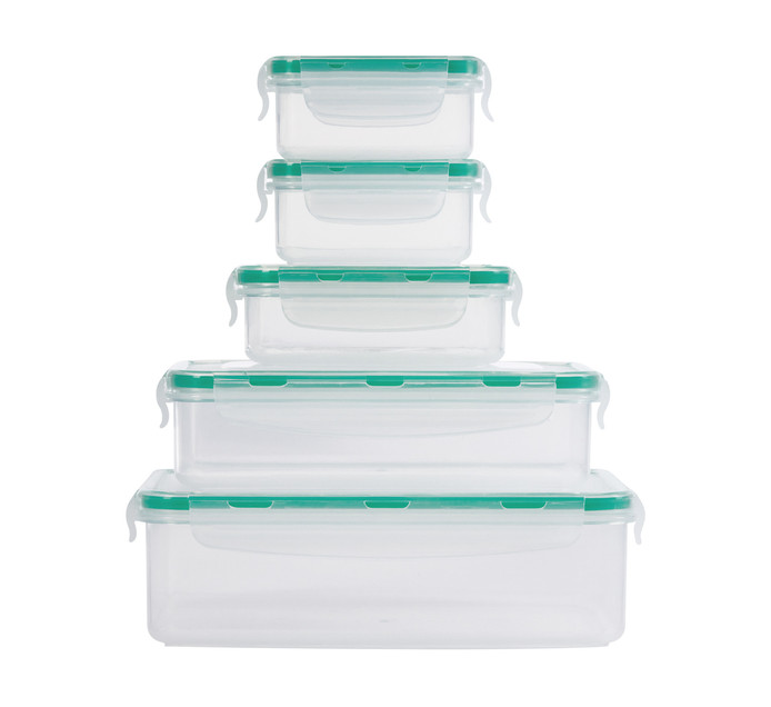 ADDIS 5 Piece 4 Sided Lock Food Saver Set