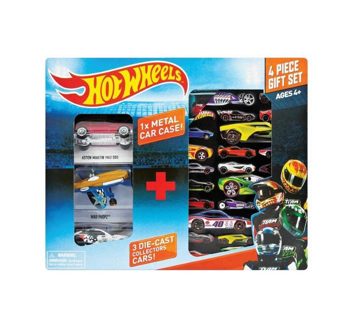 HOT WHEELS 3 Piece Collectors Tin with 3 Cars