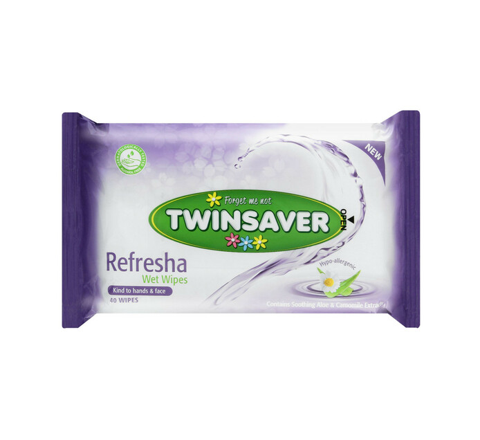TWINSAVER Hygiene Wipes (All variants) (1 x 40's)