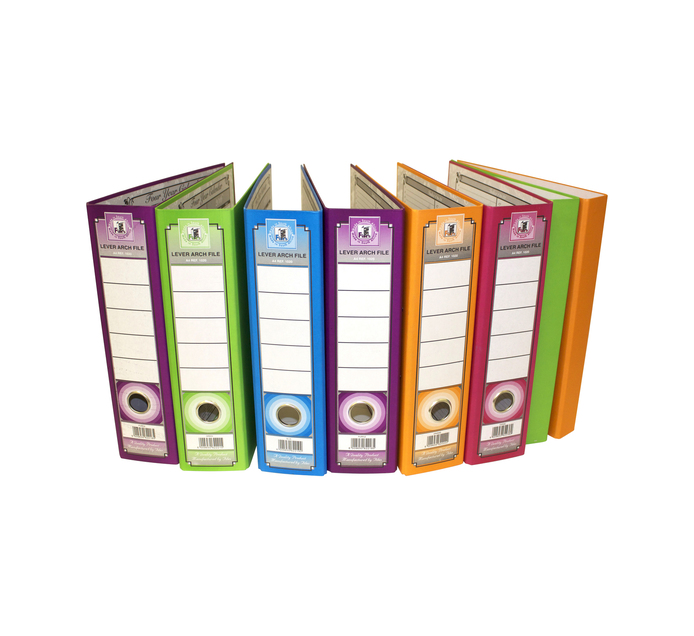 FILES Lever Arch File 6-Pack + 2 Ring Binders