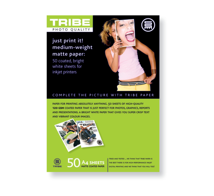 TRIBE A4 Matte Photo Paper 50 Sheets
