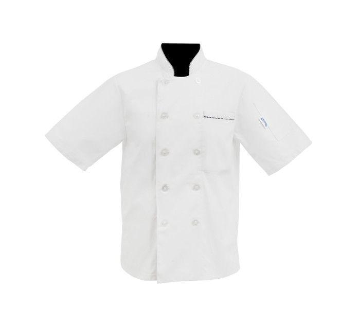 BAKERS & CHEFS S-XL Short Sleeve Chef Jacket