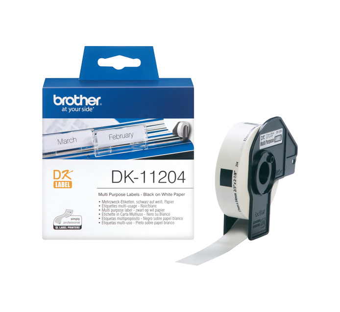 BROTHER 17mm x 54mm DK-11204 Multi-Purpose Label  (17mm x 54mm)