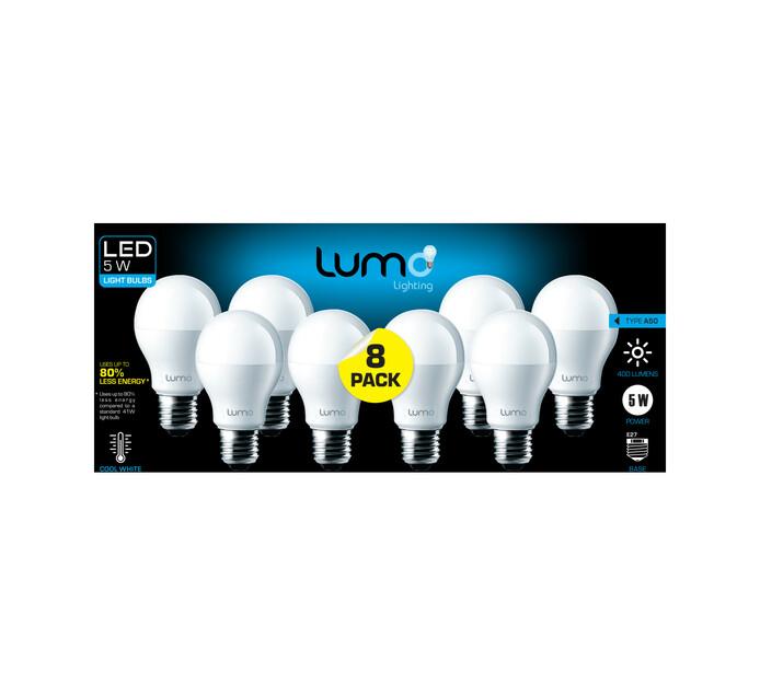 LUMO 5 W LED A60 ES CW 8 PACK