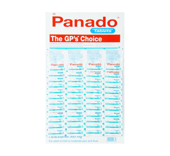 PANADO TABS DISPLAY CARD 48 X 2'S