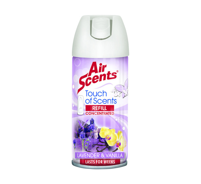AIR SCENTS Touch Of Scents Push Dispenser Refill Lavender & Vanilla (100ml)