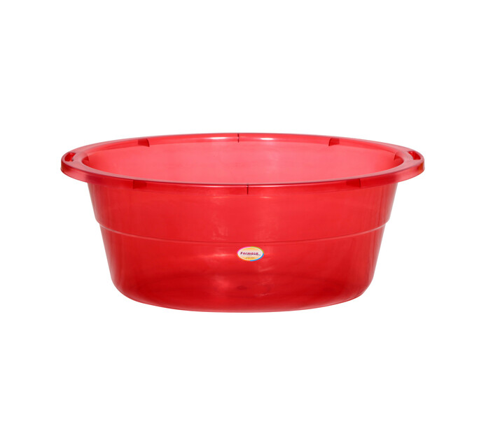 FORMOSA OVAL TUB 50L CLEAR RED