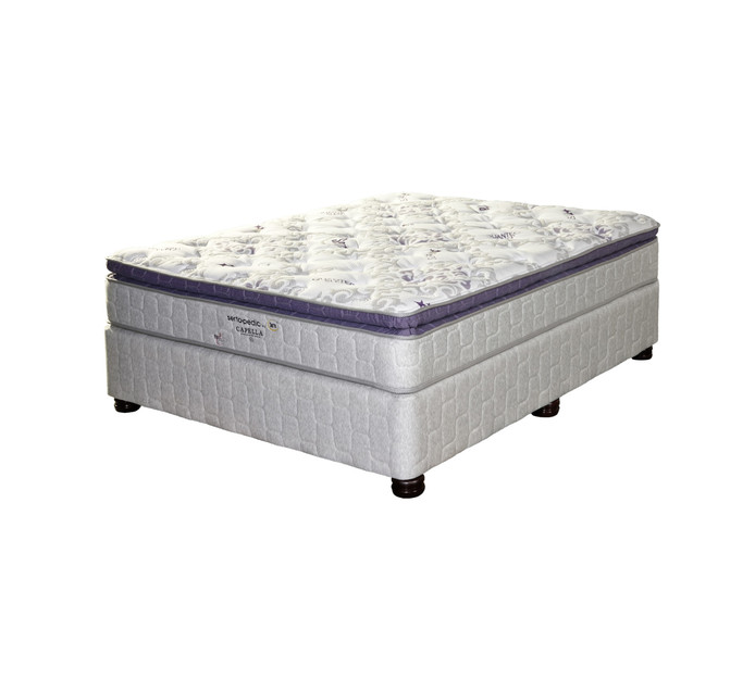 SERTA King Extra Length Sertapedic Capella Pillow Top Base Set