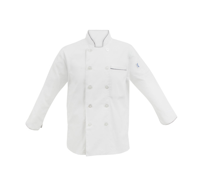 BAKERS & CHEFS Large Long Sleeve Chef Jacket White