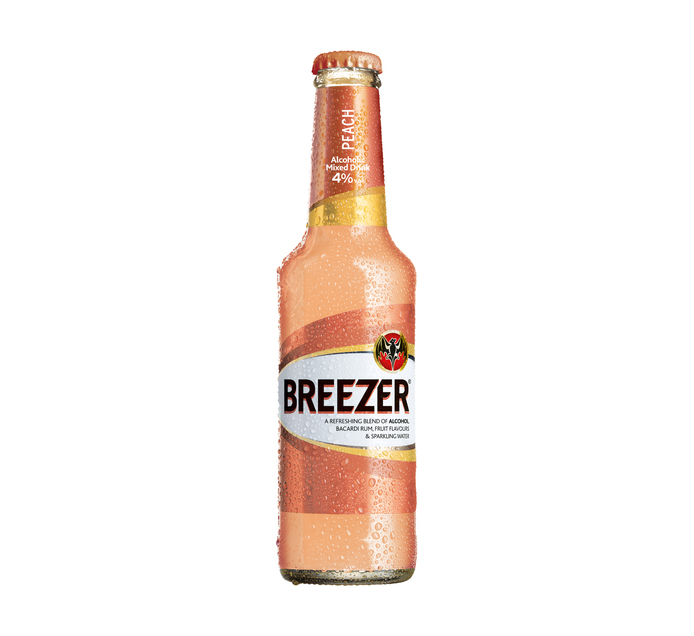 BACARDI Peach Breezer (6 x 275ml)