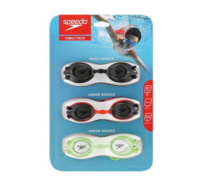SPEEDO GOGGLE FAMILY PACK
