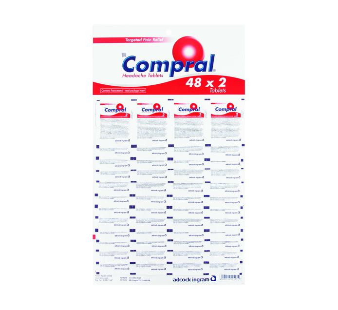 COMPRAL TABLET DISPLAY CARD 48 X 2'S