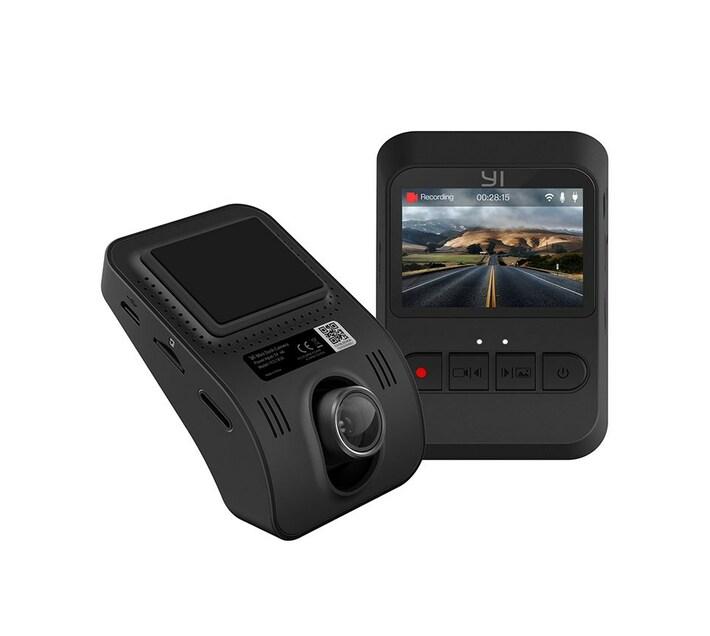 YI Mini Smart Dash 1080P 2MP 140 Micro SD Slot Camera Black