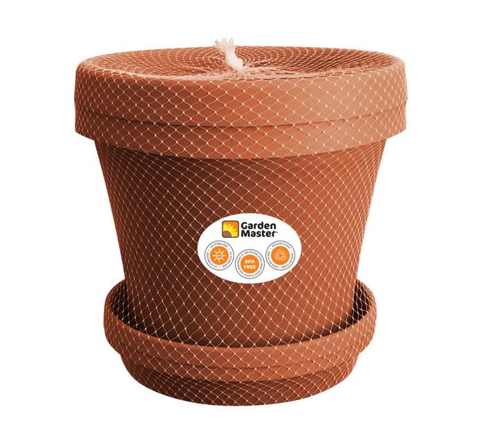 GARDENMASTER 35 cm Super Plant Pot and Saucer Set 2 Piece Terracotta