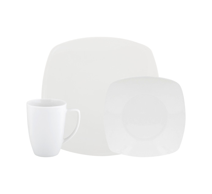 PRIMARIES 12 Piece Square Dinner Set