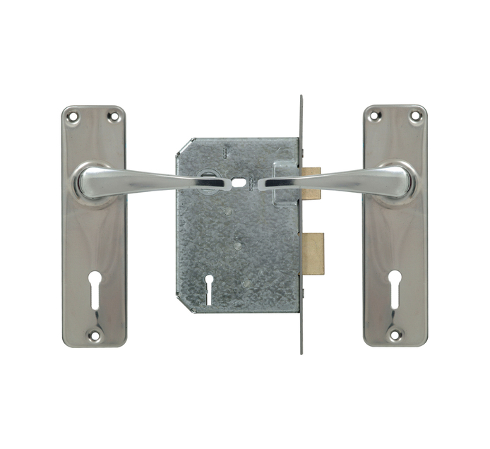 YALE 3 Lever Lockset Zinc Handle