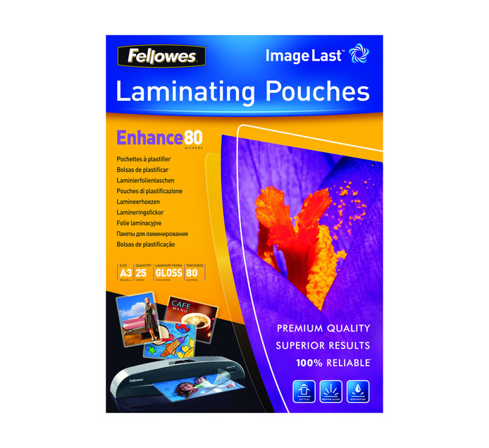 FELLOWES Imagelast Gloss A3 80 Micron Pouch
