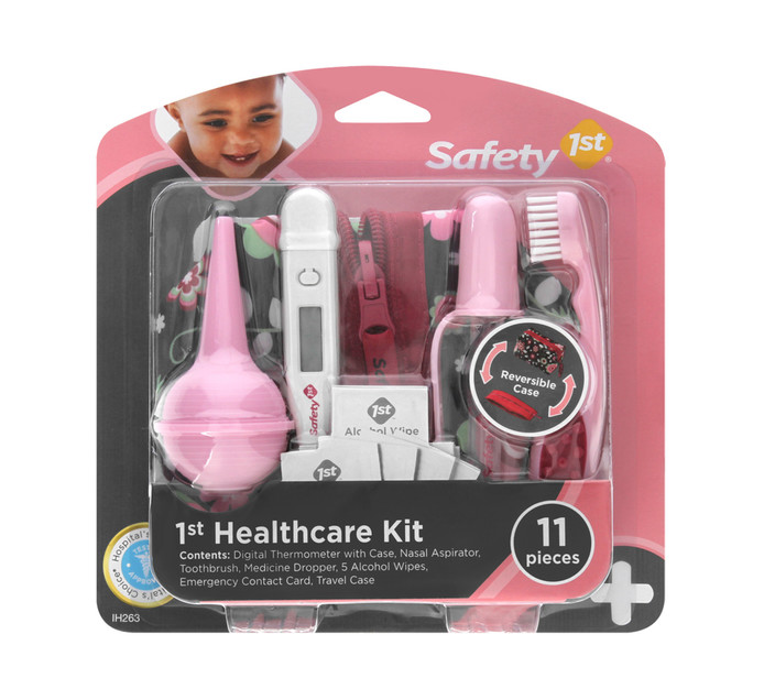 SAFETY FIRST 11pce Health Care Kit Pink