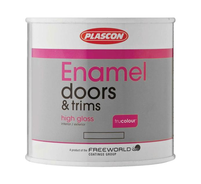 PLASCON SUPER UNI ENAMEL SUPER WHT 500ML