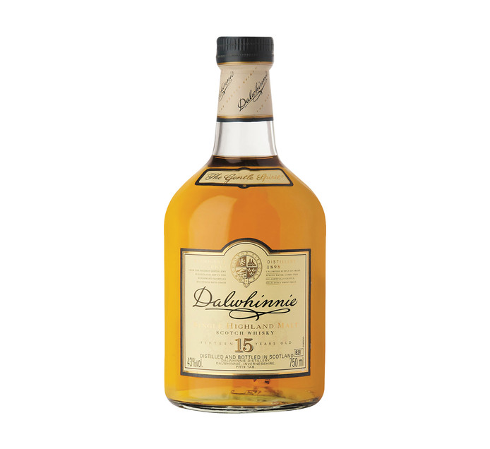 DALWHINNIE 15 YO Single Highland Malt Scotch Whisky In Gift Box (1 x 750ml)