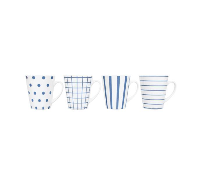 4 Pack Beach House Coffee Mugs