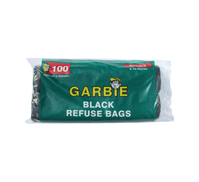 GARBIE BLACK REF BAGS ROLL  100'S
