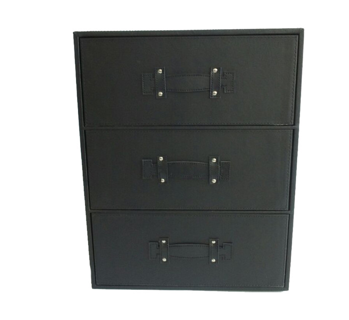 Medium Evo PU 3-Drawer Storage